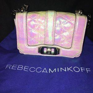 Opal iridescent Love bag by Rebecca Minkoff.